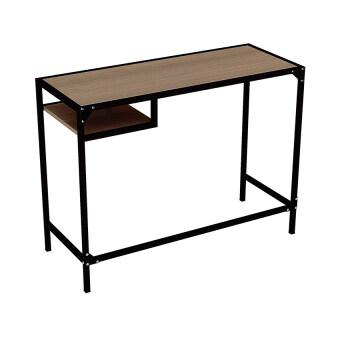 Besta โต๊ะทำงานพร้อมชั้นวาง รุ่นกาก้า (สีคาปูชิโน่/ขาว)