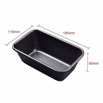 Black 1 pound rectangle non-stick Bar plate Toast box rectangle tray