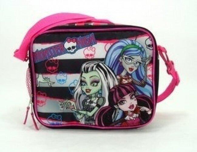 Black and White Stripe Monster High Lunch Bag - Monster High Lunch Box - intl