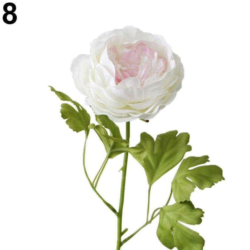 Bluelans 1 Pc Artificial Peony Flower Home Room Shop Wedding Party Garden Decor (Pink +  ...