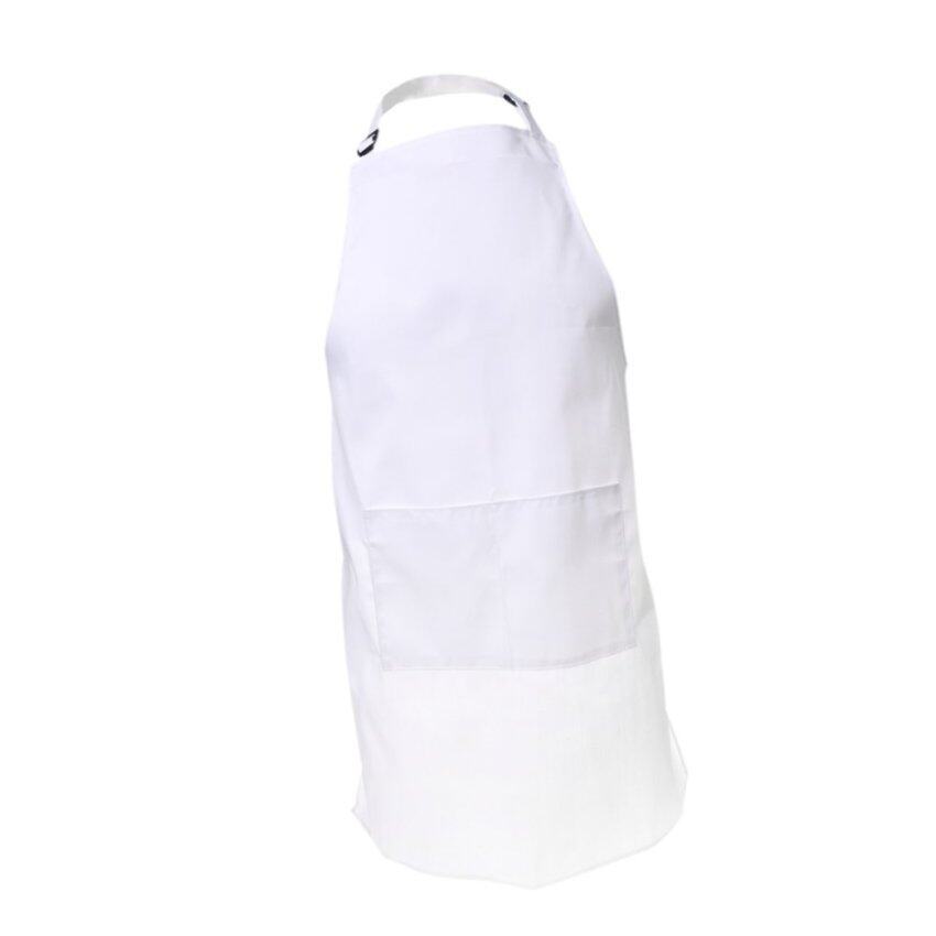 BolehDeals Unisex Apron Cooking Kitchen Restaurant Bib Apron Dress Pocket White
