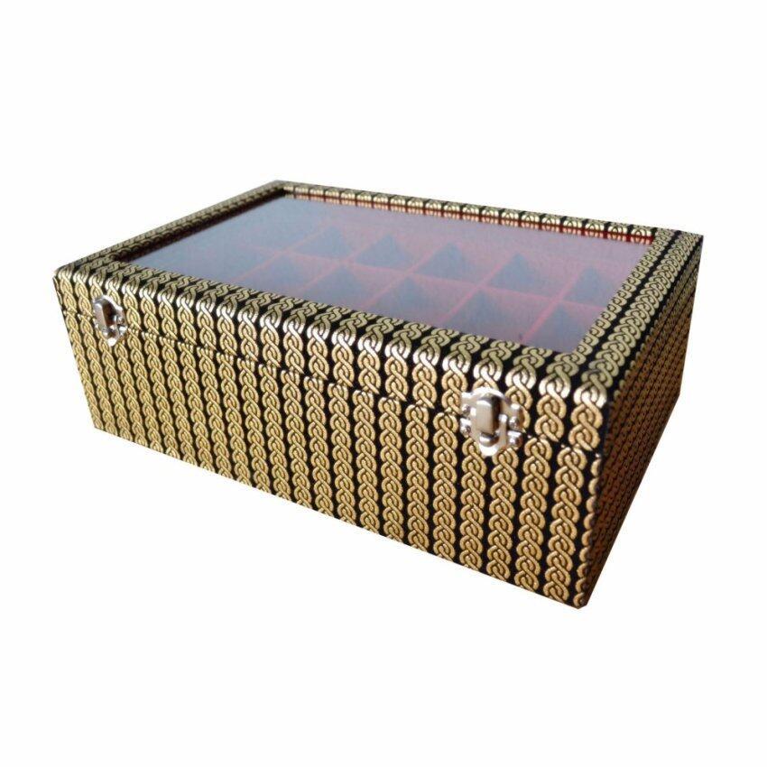 Boxnos กล่องใส่พระ หุ้มหนัง 3 ชั้น 54 ช่อง