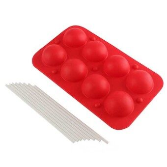 Cake Chocolate Cookie Silicone Mould Lollipop Baking Tray Moldstick Party - Intl