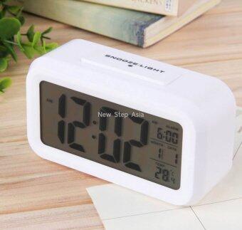 Cassablu นาฬิกาปลุกตั้งโต๊ะ นาฬิกาปลุกเรื่องแสง นาฬิกาปลุก สีขาว