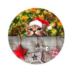 Christmas Animals Prints Round Felt Doormats Ca5375bb - Intl ราคา 1,689 บาท(-23%)