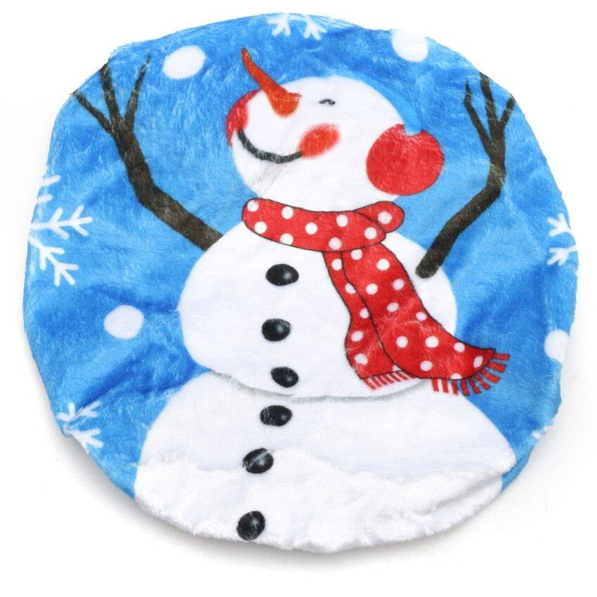 Christmas Snowman Toilet Seat Cover Xmas Ornament Bathroom Washroom Decoration Branch Sn