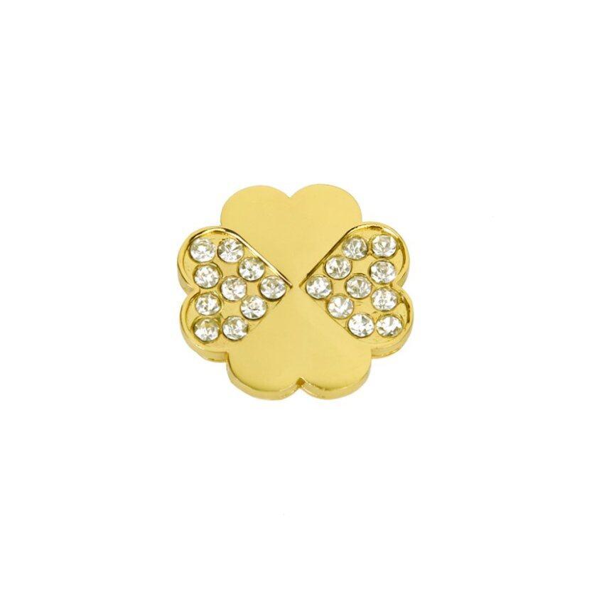 Clover Shape Drawer Cabinet Door Pull Handle Knob Golden
