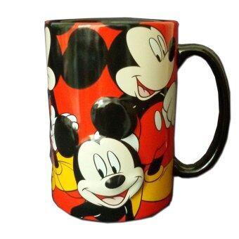 Disney แก้วเซรามิก รุ่น MUG-3 รูปมิกกี้เม้าส์ 3D (สีดำ/แดง)