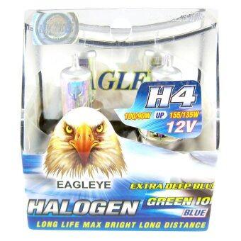 หลอดไฟหน้า EAGLEYE - ฮาโลเจน H4 กรีน ไอออน แสงสีเขียว