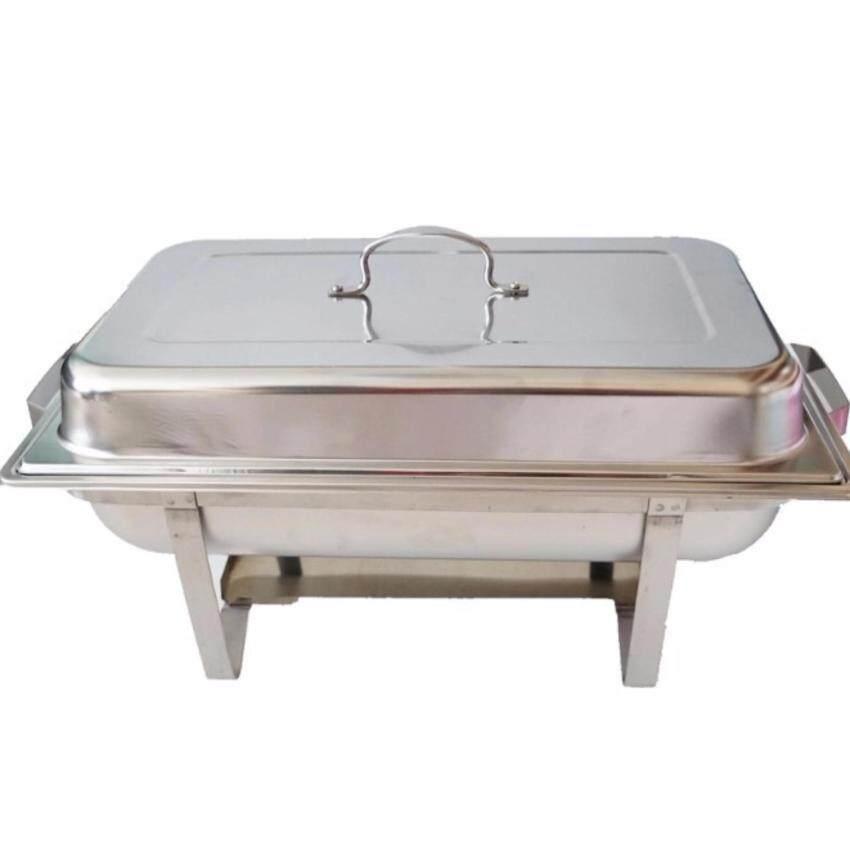 FOFO Chafing dish ชุด ถาดบุฟเฟ่ต์ / ถาดอุ่นอาหาร สเตนเลส 2ช่อง (1 ชุด) ...
