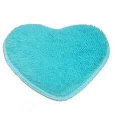 Gethome 40x30cm Lovely Heart Shape Cushion Absorbent Carpet Anti Slip Bath Mat Floor Rug - Intl ราคา 98 บาท(-50%)