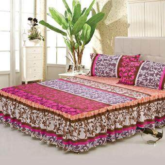 GoGoLife Cotton Soft Bed Skirt Bedsheet Bedclothes High Quality-33# Purple