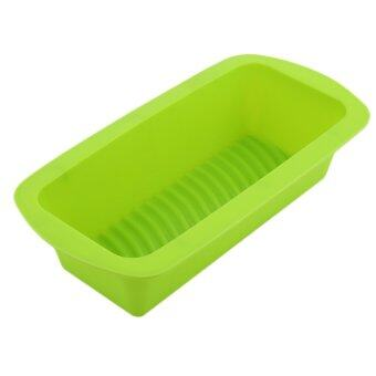 GOOD Toast Rectangular Box Loaf Cake Baking DIY Tools Cake Mold Christmas Tools Green - intl