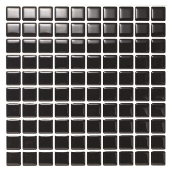 Hanhwa L&C Bodaq D.I.Y Tile Sheet SQW04 Square Style Pack of 10 (Black) - Intl