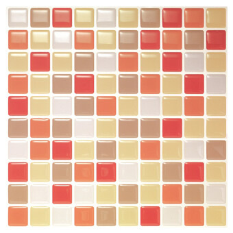 Hanhwa L&C Bodaq D.I.Y Tile Sheet SQW05 Square Style Pack of 5 (Vanila Orange) (Intl)