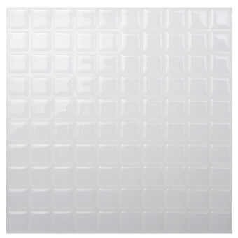 Hanhwa L&C Bodaq D.I.Y Tile Sheet SQW13 Square Style Pack of 10 (Pure White) (Intl)