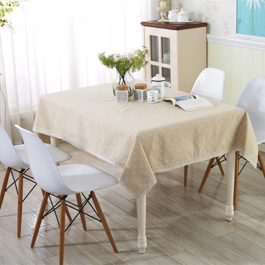 HKS 60 * 60 Linen Tablecloths Gaibu Sen Depart Ment Petty Daisylacelinen Table Cloth - i ...