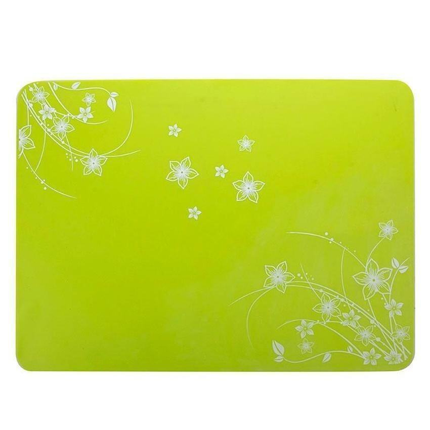 HL 40 X 30 cm Anti-Skidding Silicone Heat Insulation Mat For Food Dish/Beverage / Oven / Kid Table(Green) - intl