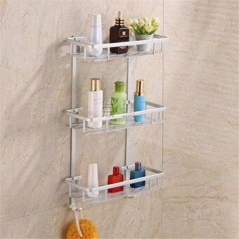 Home Bathroom Space Side Mount Shower Caddy Storage Organizer Shelf Rack Soa 3 Layers - Intl