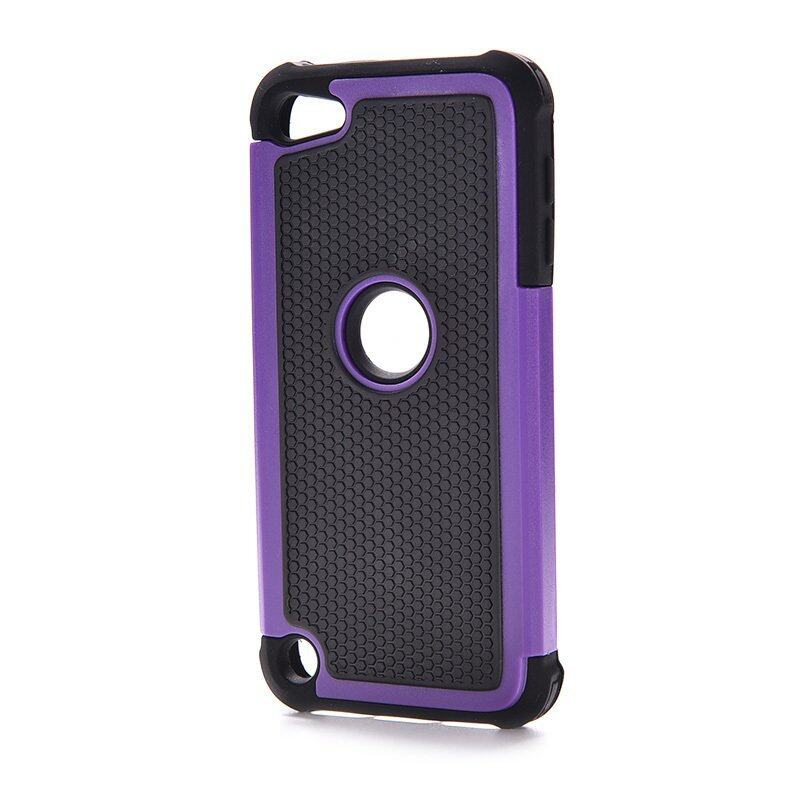 HomeGarden Rubber Case For Ipod Touch 5 5th (Black + Purple) - Intl