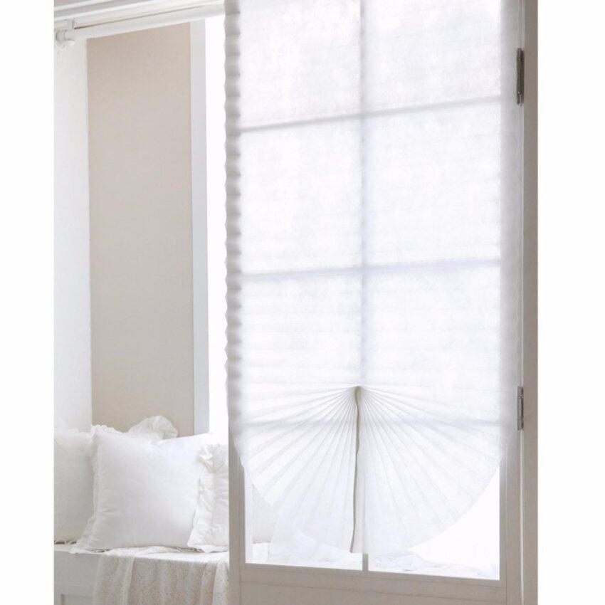 Horizontal BLIND Versatile Sticky Self-Blind Window Shade Curtain White 1sheet - intl