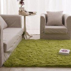 Jhs Fluffy Rugs Anti-Skid Shaggy Area Rug Dining Carpet Floor Mat Grassgreen - Intl ราคา 412 บาท(-23%)