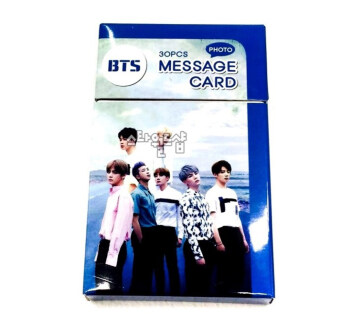 K-Pop BTS Bangtan Message Card 30 pic(9cm x 6cm) - intl