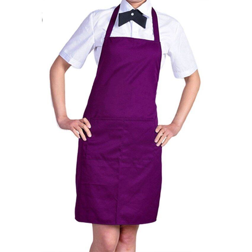 Kitchen Cooking Chefs Apron (Purple)