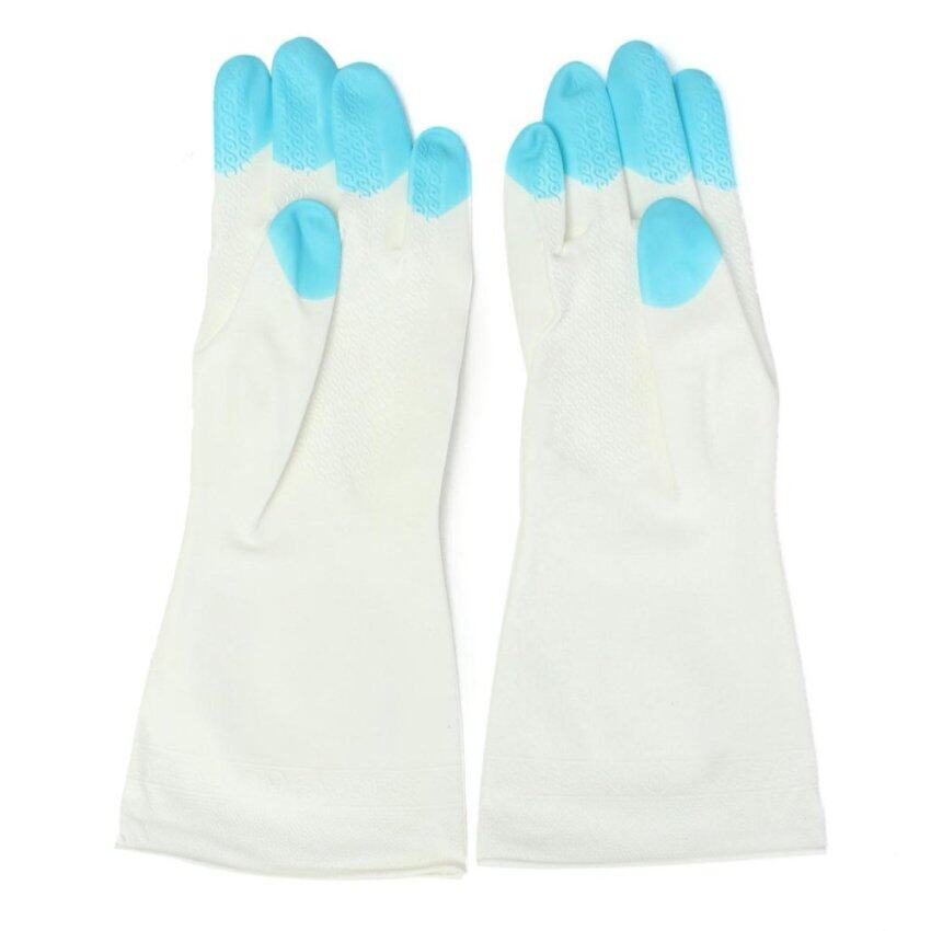 Kitchen Heat Resistant Silicone Glove Oven Pot Holder Baking BBQ Cooking Mitts Blue - in ...