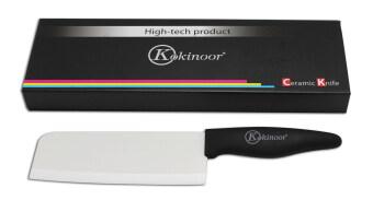 Kokinoor มีดอีโต้เซรามิค ขนาด 6 รุ่น HKC218S (Silver/Black)