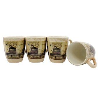 Koorkinoor ชุดถ้วยมัคเซรามิก รุ่น  X-SQ4OT/4-1GB 1 ชุด/4 ใบ
