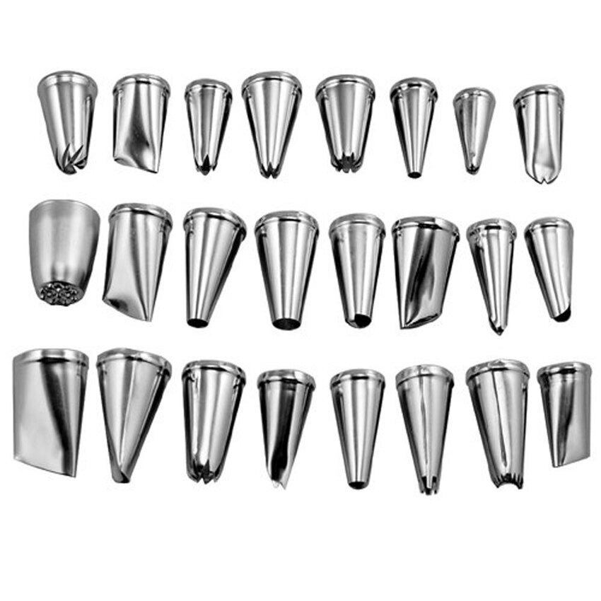 lz-niceeshop-24pcs-stainless-steel-cupcake-cake -puff-decoratingicingnozzles-piping-sugarcraft-pastry-tips-tool-set-intl-3782-33069411- ...