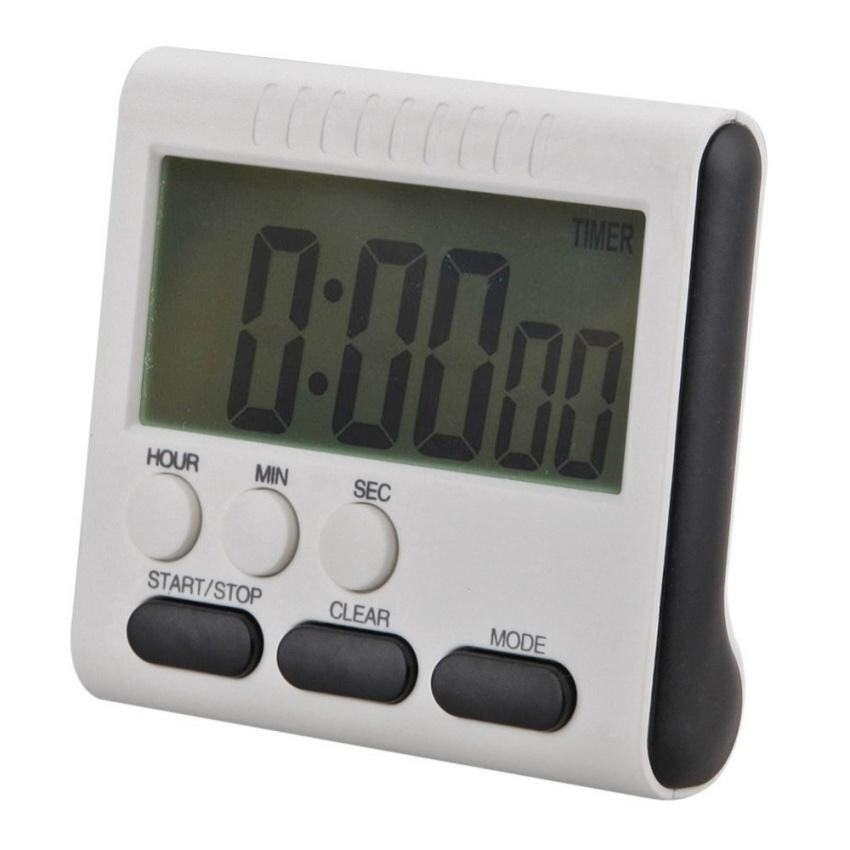 Magnetic Large Lcd Digital Kitchen Timer Alarm Count Up Down Clock24 Hours - intl ...