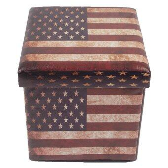 เก้าอี้สตูล Maison 2 in 1 - ลายธงสหรัฐ ไซส์ S