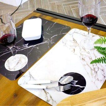 Marble Table Mat 4P + Coaster 4P Set - Intl