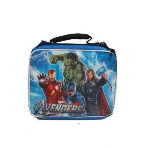 Marvel Avengers Insulated Lunch Bag Hulk, Iron Man, Captain America & Thor Blue - intl