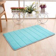 Memory Foam Mat Absorbent Slip-Resistant Pad Bathroom Shower Bath Mats Sky Blue - Intl ราคา 307 บาท(-67%)