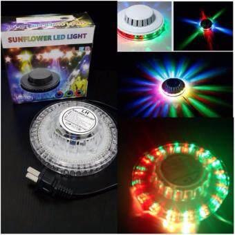 Mini Disco Light ไฟดิสโก้พกพา แบน/บาง ใช้งานสะดวก ไฟหลากสี ระบบ Voice Activate (ทรง UFO)