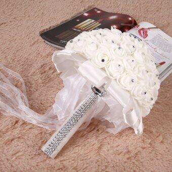 Mouse over Foam Roses Artificial Flower Wedding Bride Bouquet Party Decor