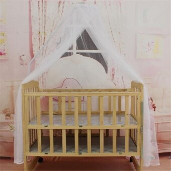 New mosquito bar Nursery Baby Cot Bed Toddler Bed or Crib CanopyHome Mother Mosquito Net White - intl