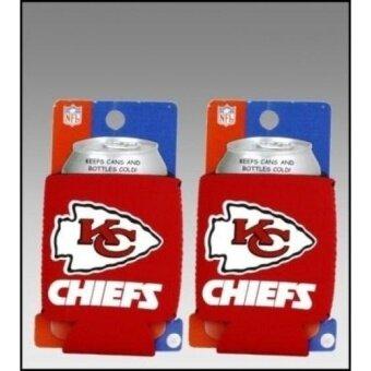 NO.1 Set Of 2 Kansas City Chiefs Nfl Can Kaddy Koozies - intl