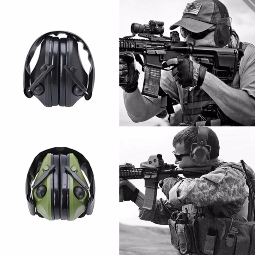 Noise Canceling Electronic Ear Muffs Protection Shooting Hunting Sport Tactical - intl