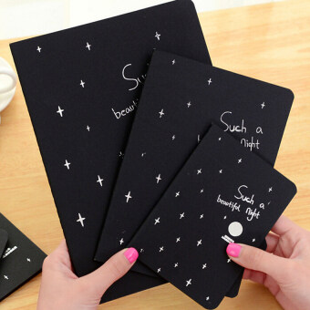Notebook Diary Black Paper Notepad Sketch Graffiti Notebook Fordrawing Painting 56K - intl