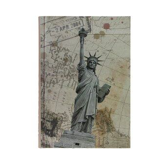 Notebook Gift Book Travel Diary Journal Hard Cover 144 Pages-Statue of Liberty - intl