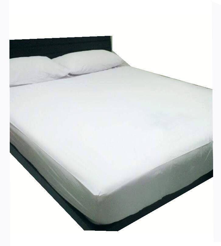 PP Sheet คลุมที่นอนกันน้ำกันไรฝุ่น 6ฟุต ( สีขาว )(6ฟุต)