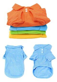 Pet Puppy Summer Polo Shirt Small Dog Cat Pet Clothes CostumeApparel T-Shirt - INTL