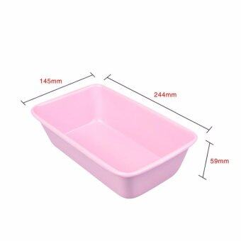 Pink 2 pound rectangle non-stick Bar plate Toast box rectangle tray