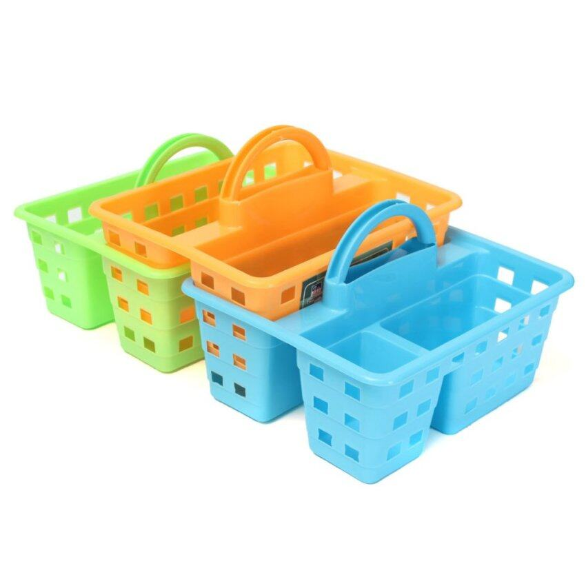 Plastic Storage Basket Organizer With Handle For Bathroom Kitchen Home Office (Intl) - i ...
