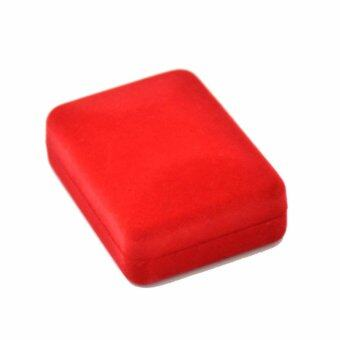 กล่องใส่เครื่องประดับ ใส่สร้อยคอ ใส่จี้ ใส่เครื่องราง หน้าทึบ ขนาดเล็ก สีแดง