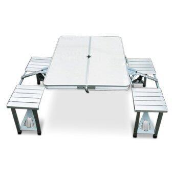 โต๊ะปิคนิคอลูมิเนียม พับได้ กันน้ำ รุ่น PX-028-M ขนาด 4 ที่นั่ง (ราคาพิเศษ)